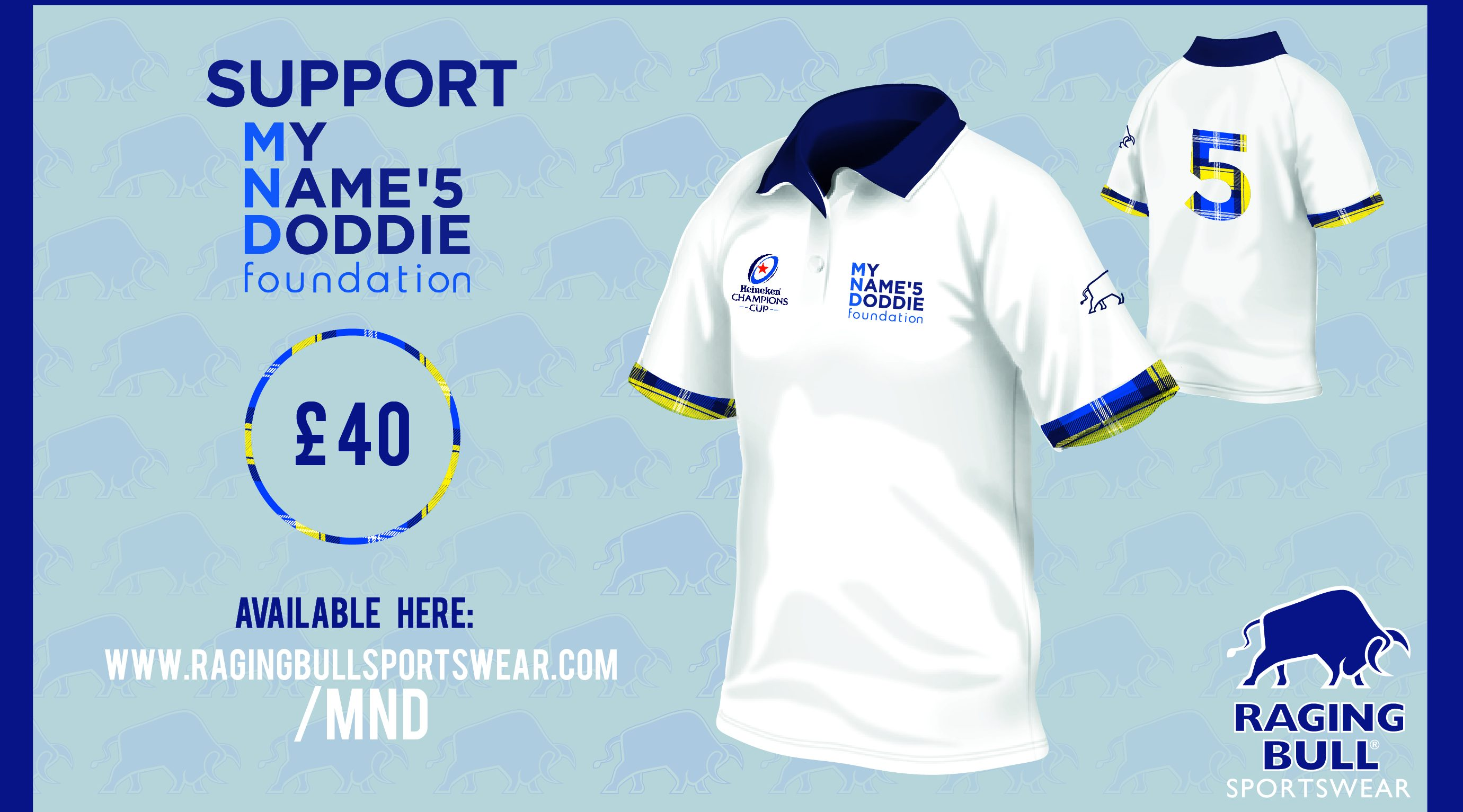 Get your My Name'5 Doddie Foundation polo shirt now!